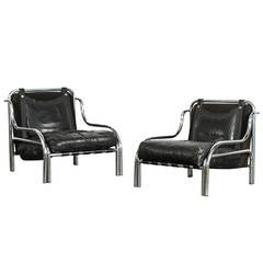 Pair of Stringa Armchairs by Gae Aulenti