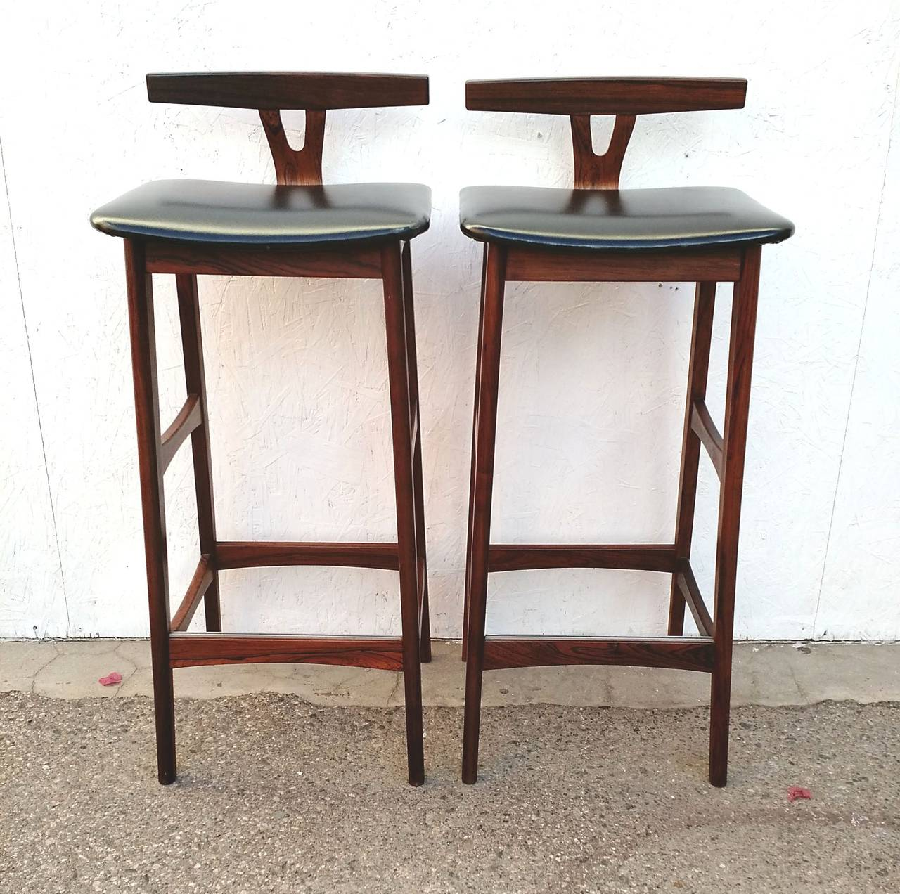Pair of Mid Century Danish Modern Rosewood Bar Stools by  : IMG20150226163800l from www.1stdibs.com size 1280 x 1272 jpeg 199kB