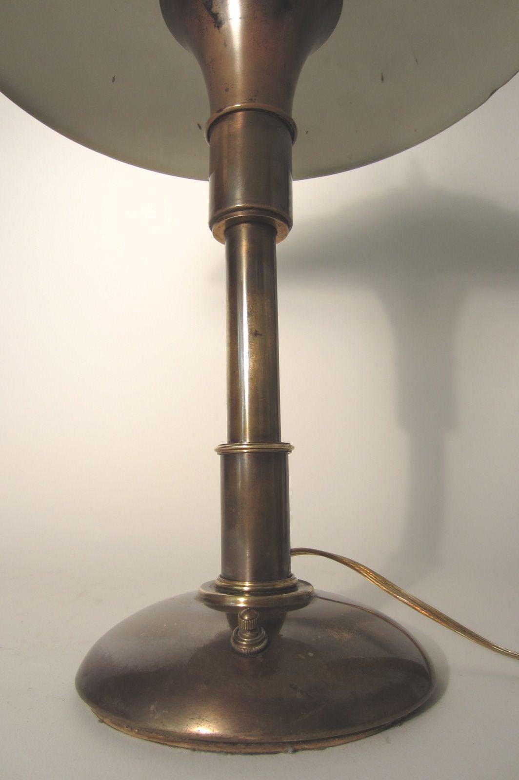 Bert Dickerson, Machine Age Guardsman Brass Desk Lamp by Faries ...