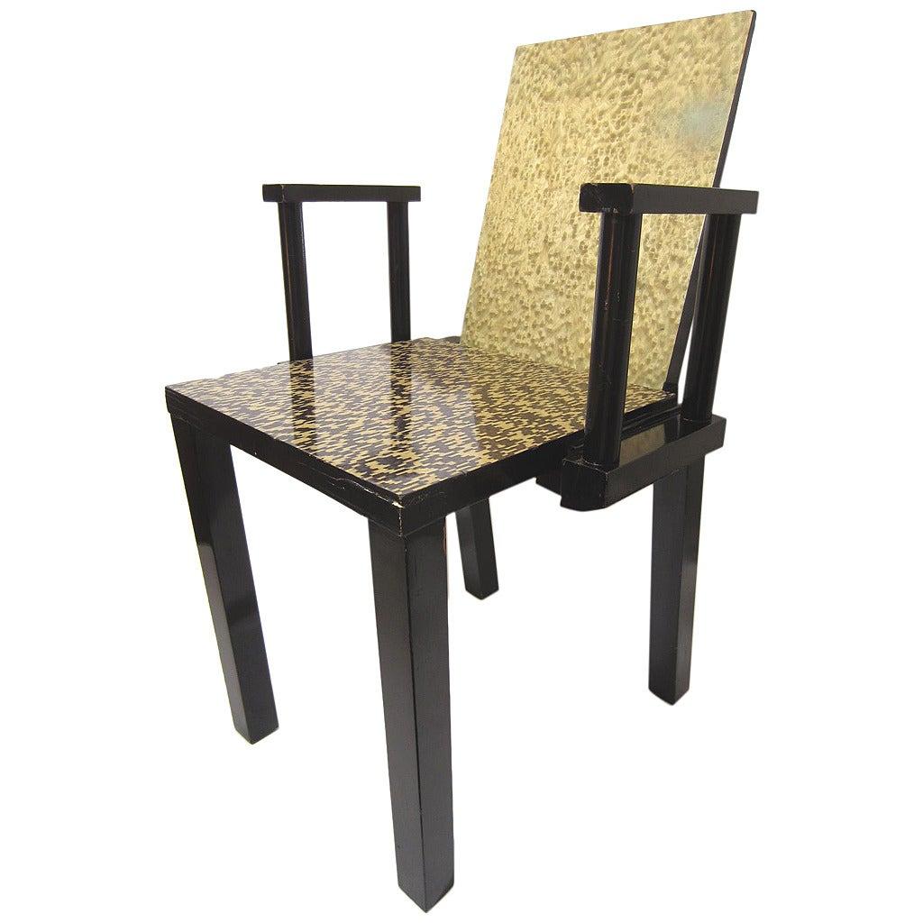 """Post Modern Wood Furniture post modern era constantin boym armchair, """"nota bene,"""" memphis era"""