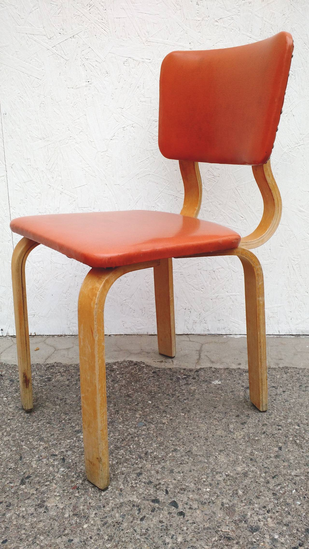 Gentil Mid Century Modern Original 1940 Thonet Bentwood Dining Chairs, Set Of  Eight For Sale