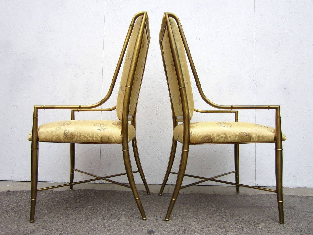 Mastercraft Furniture Brass Faux Bamboo Dining Chairs Set Of Six 1970s At 1stdibs