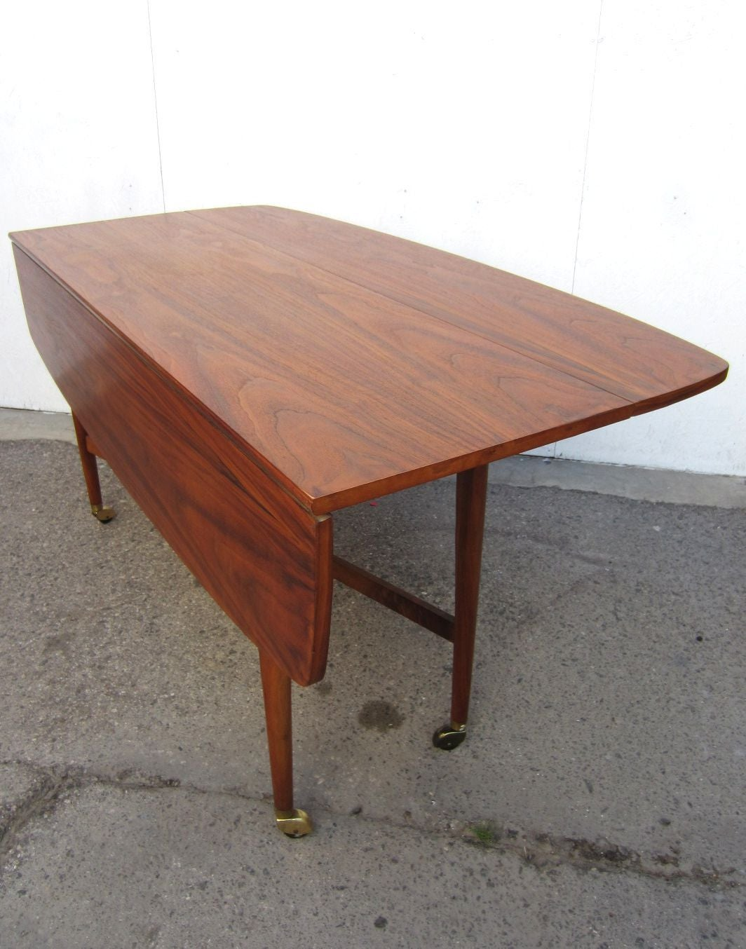 1960 Drexel Declaration Kipp Mcdougell Drop Leaf Sofa Table For 4