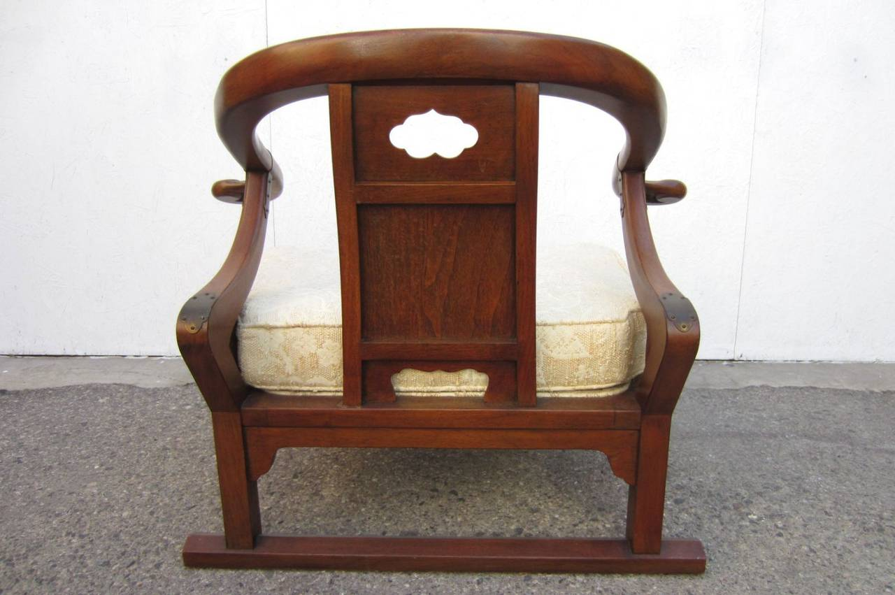 Hollywood Regency Michael Taylor For Baker Furniture Asian Lounge Chair At 1stdibs