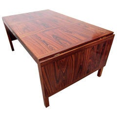 Mid-Century Danish Modern Eight-Foot Rosewood Dining Table by Kai Winding