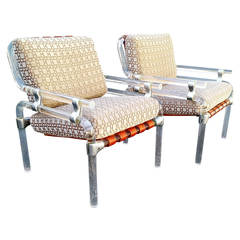 Jeff Messerschmidt Pipeline Series Lucite Sculpture Club Chairs, Pair, 1970s