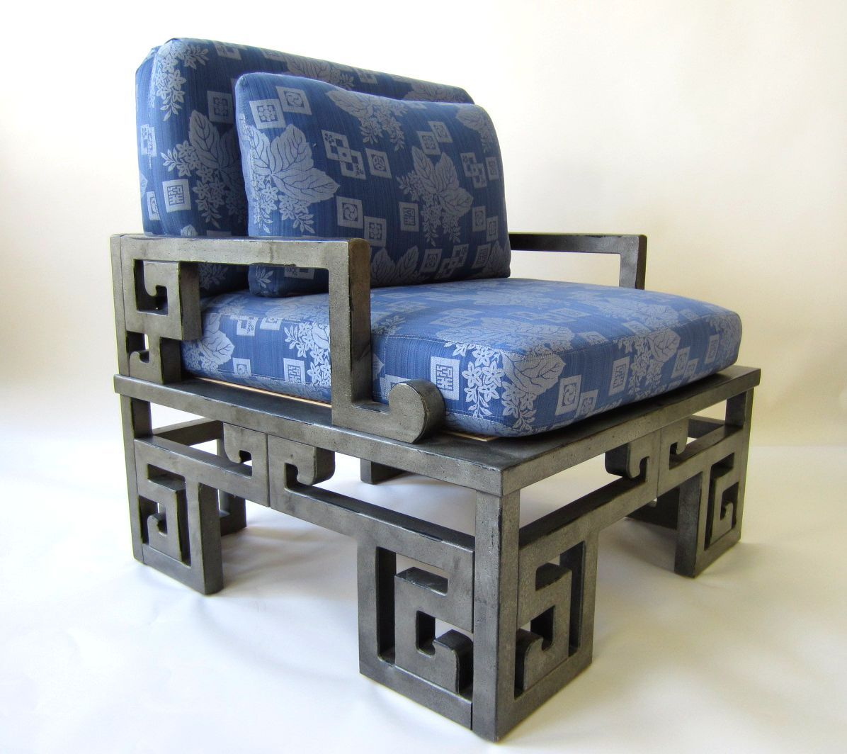James Mont Style Asian Hollywood Regency Lounge Chairs By