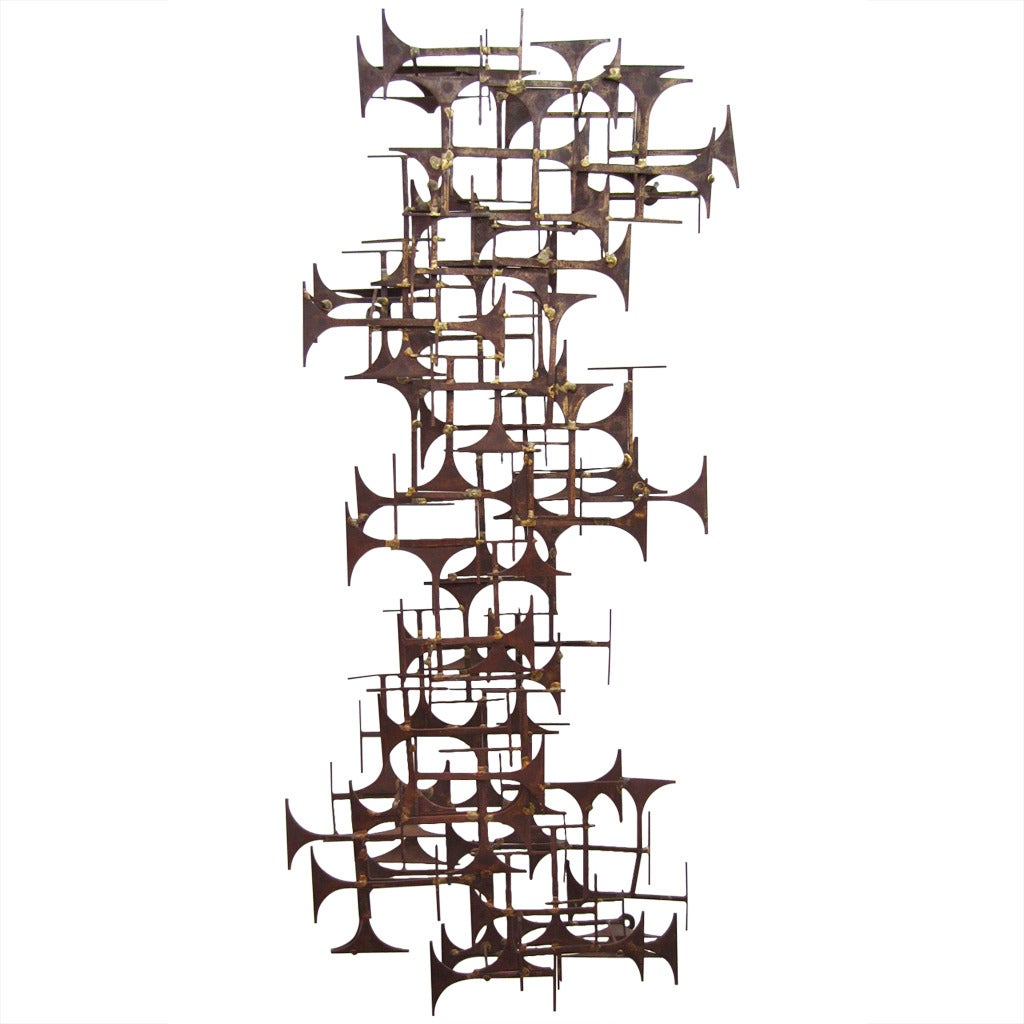 Brutalist Abstract Wall Art Sculpture by Marc Weinstein, circa 1970