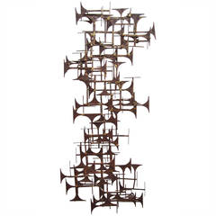 Brutalist Abstract Wall Art Sculpture by Marc Weinstein, circa 1970