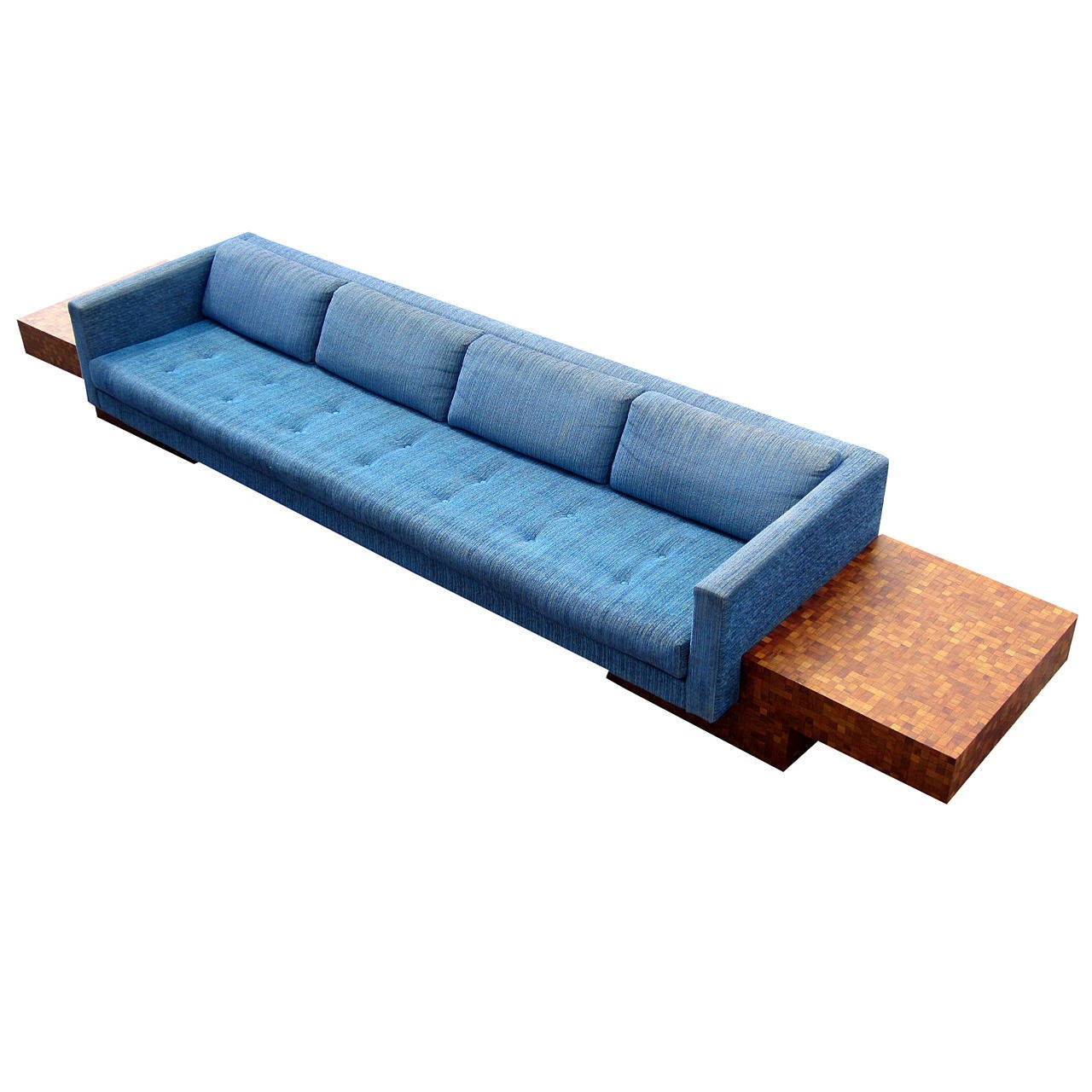 mid century modern adrian pearsall for craft associates floating sofa at 1stdibs. Black Bedroom Furniture Sets. Home Design Ideas