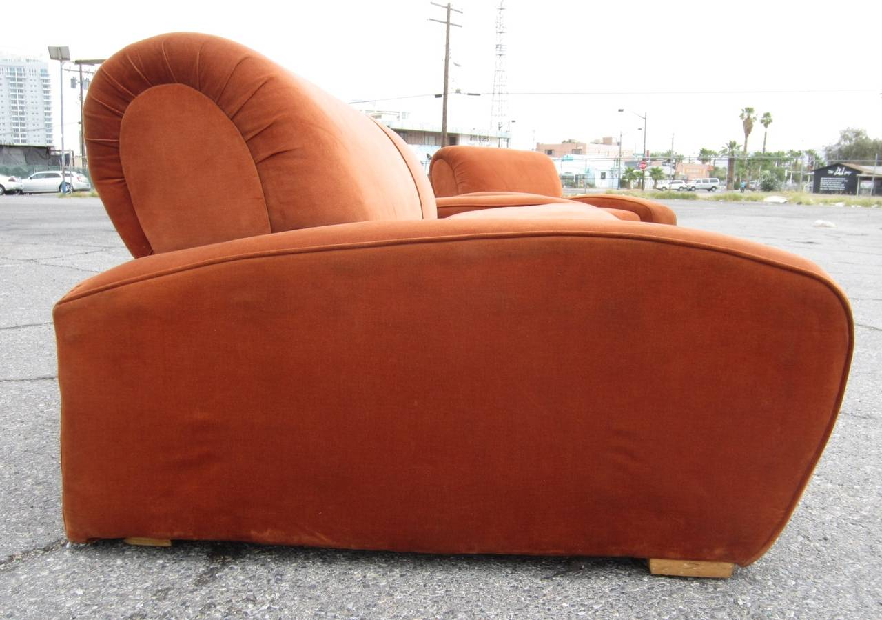 """Art Deco Paul Frankl """"Speed"""" Lounge Chair and Sofa Set, circa 1939 In Good Condition For Sale In Las Vegas, NV"""