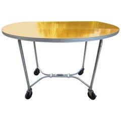 Art Deco Modernist Warren McArthur Industrial Serving Table or Bar Cart