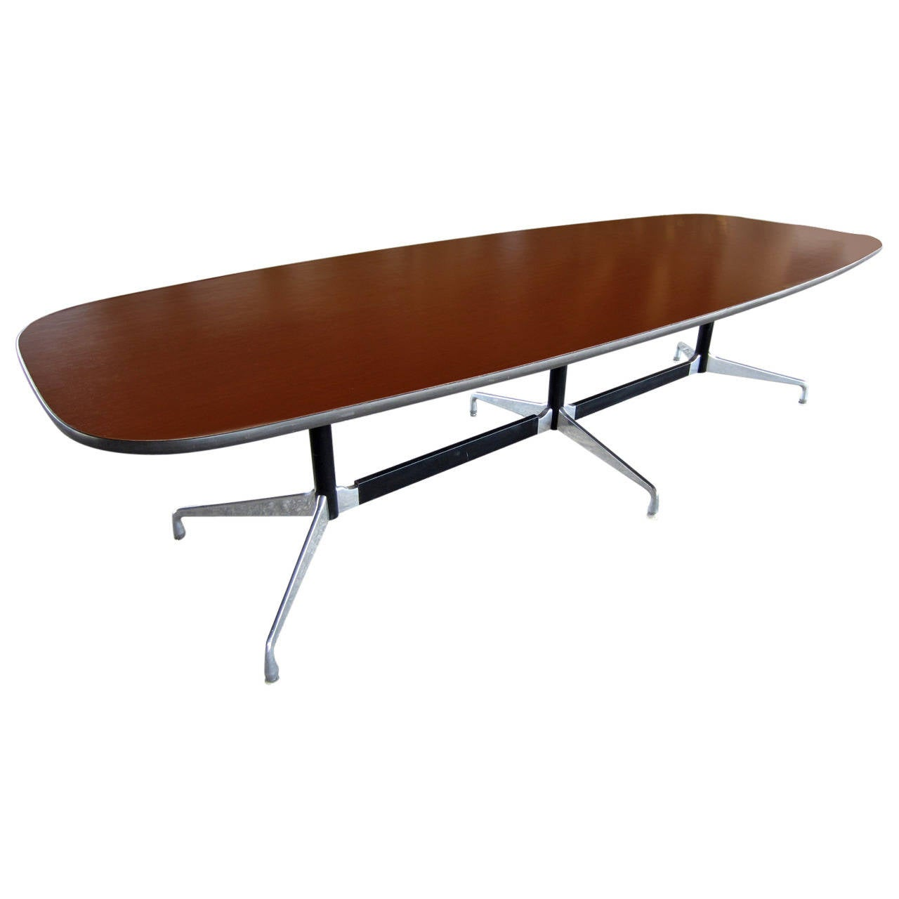 midcentury modern herman miller eames aluminum group dining table  - midcentury modern herman miller eames aluminum group dining table