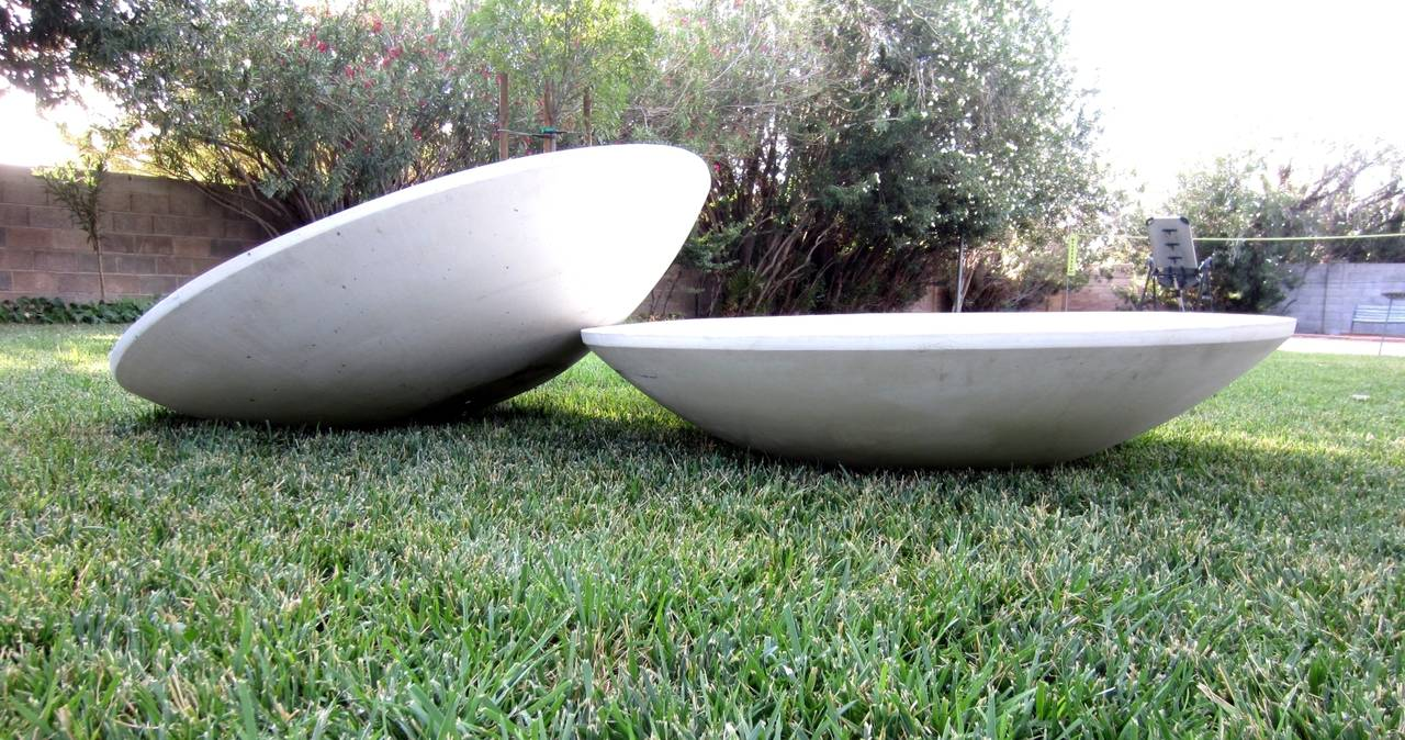 Mid Century Modern Wide Architectural Planter Pots For