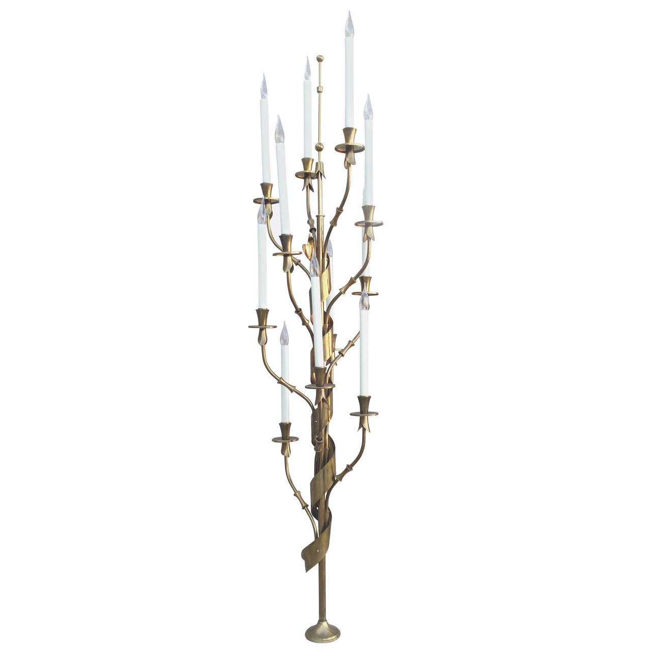 Hollywood Regency Stilnovo Italy Standing Candelabra Floor Lamp