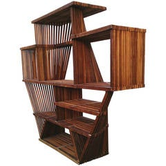 Attributed Cliff May Architectural Industrial Postmodern Wall Unit