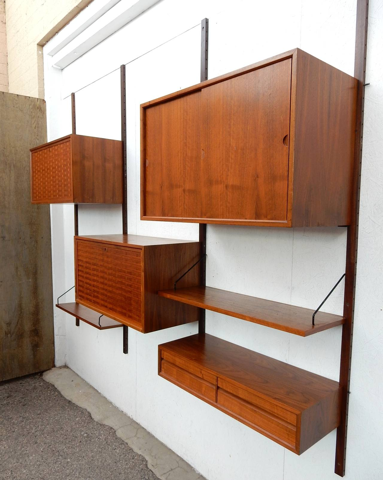 midcentury modern poul cadovius cado wall unit cabinet shelf system 2