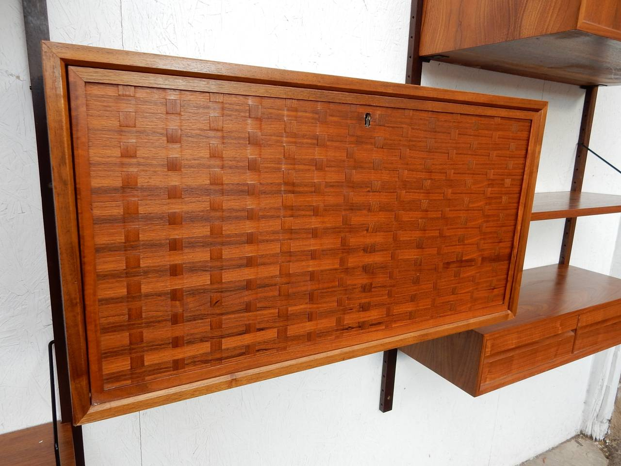 midcentury modern poul cadovius cado wall unit cabinet shelf system 3