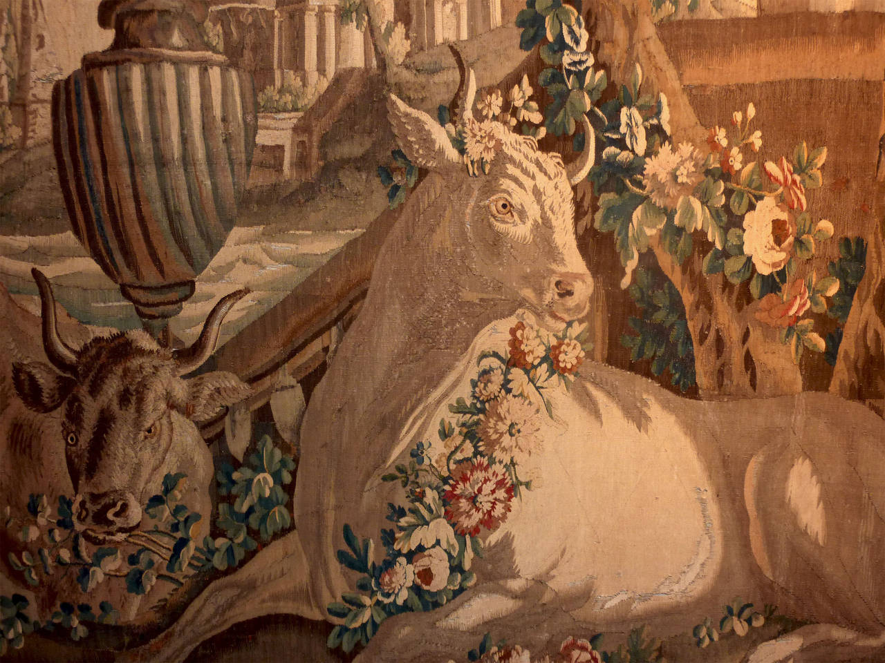 Io and Zeus Flemish Tapestry, Brussels 18th Century at