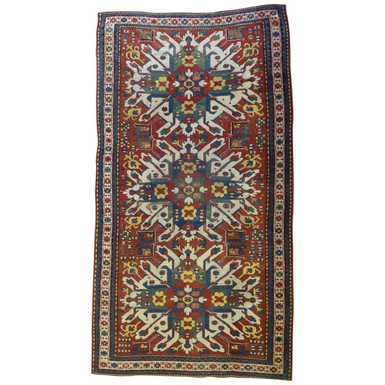 Armenian Antique Rugs: Antique Eagle Kazak Rug At 1stdibs
