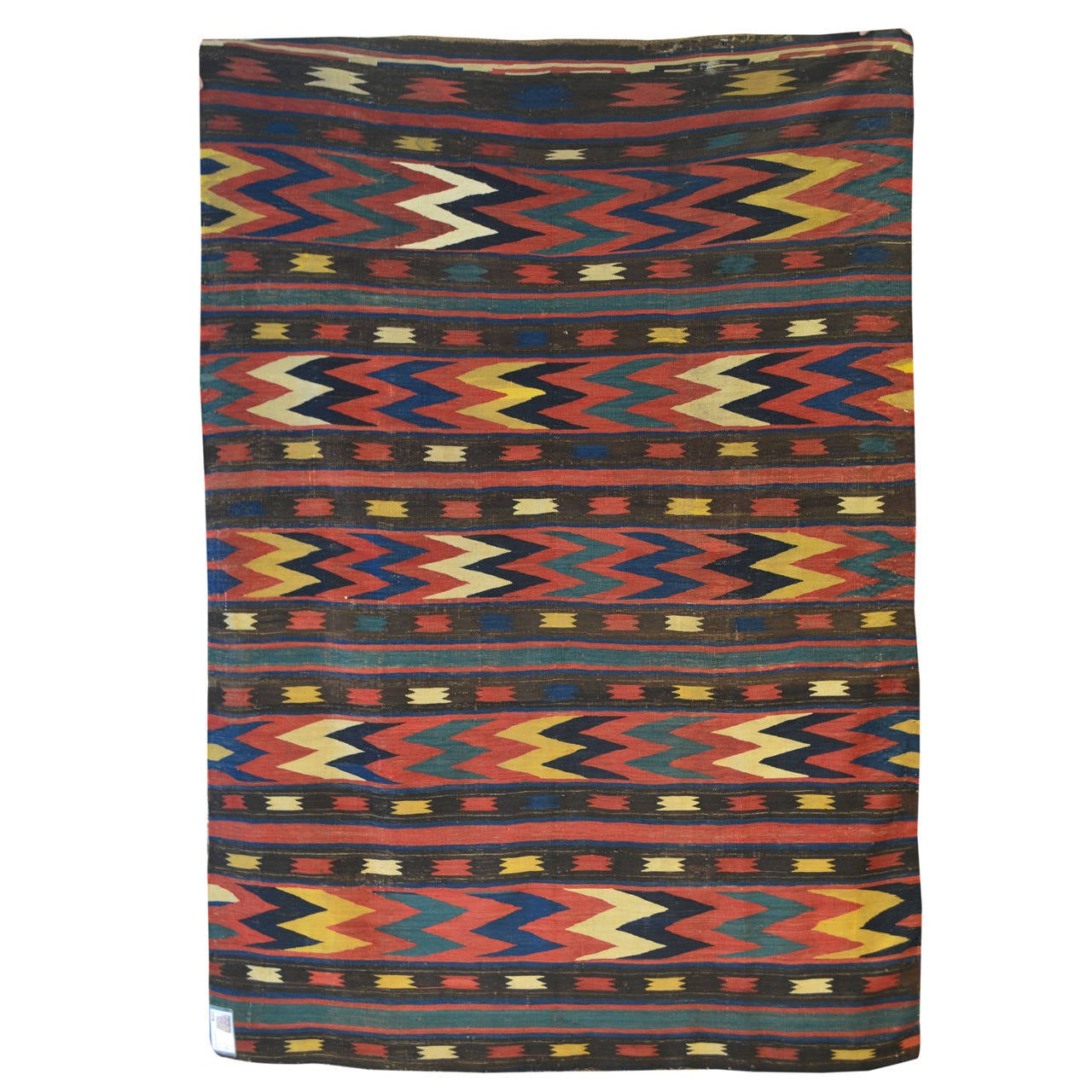 Caucasian Kilim Rug: Antique Archaic Caucasian Kilim Rug At 1stdibs