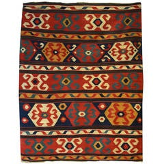 Antique Thracian Shark 246 Y Kilim Dated 1849 At 1stdibs