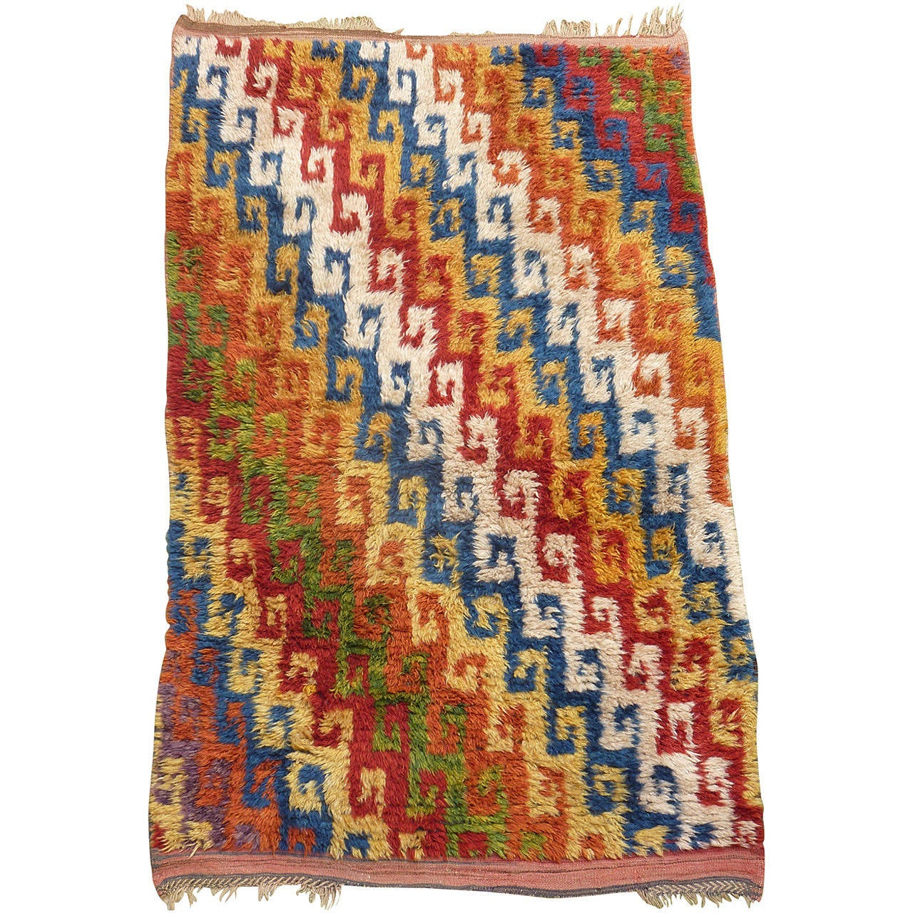 Soft Graphic Long Haired Tulu Rug