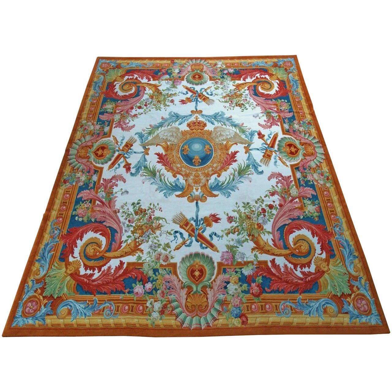 Prestigious Large Carpet Louis Xv Style At 1stdibs