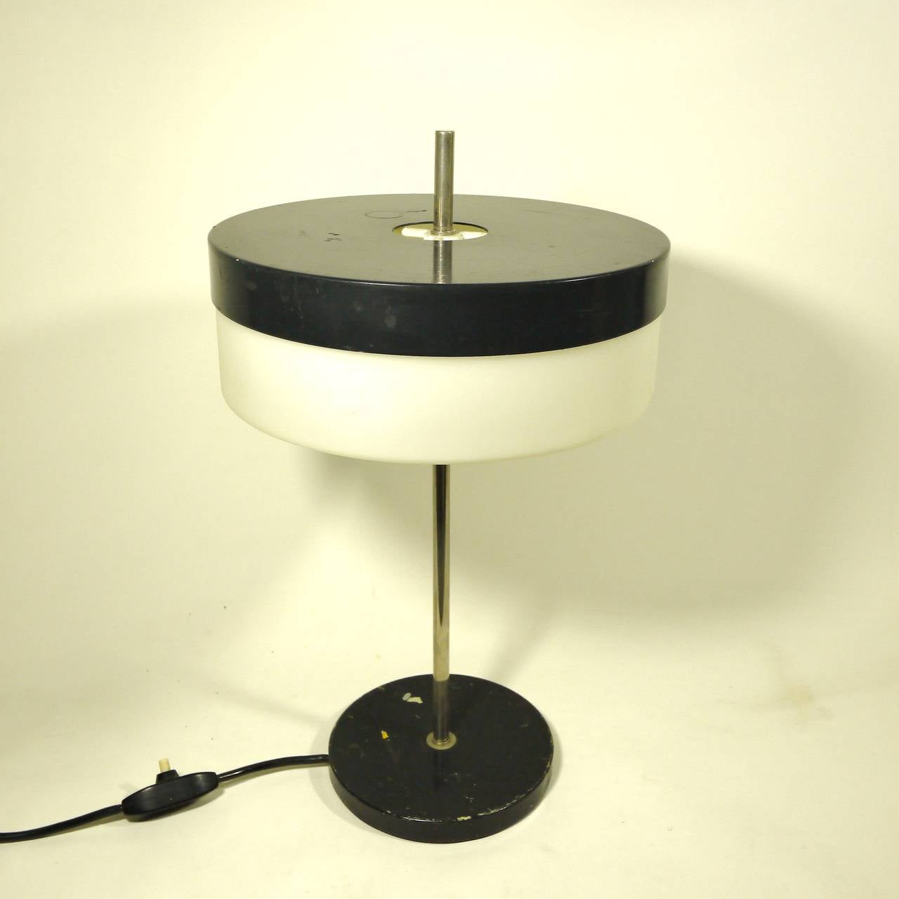 Black And White Table Lamp By Stilux For Sale At 1stdibs