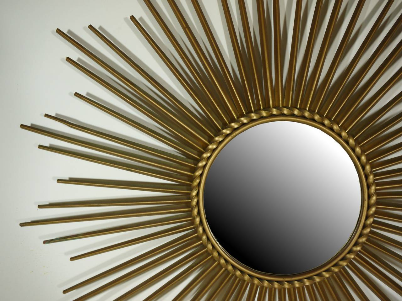 Gilt metal mirror by chaty vallauris for sale at 1stdibs for Chaty vallauris miroir