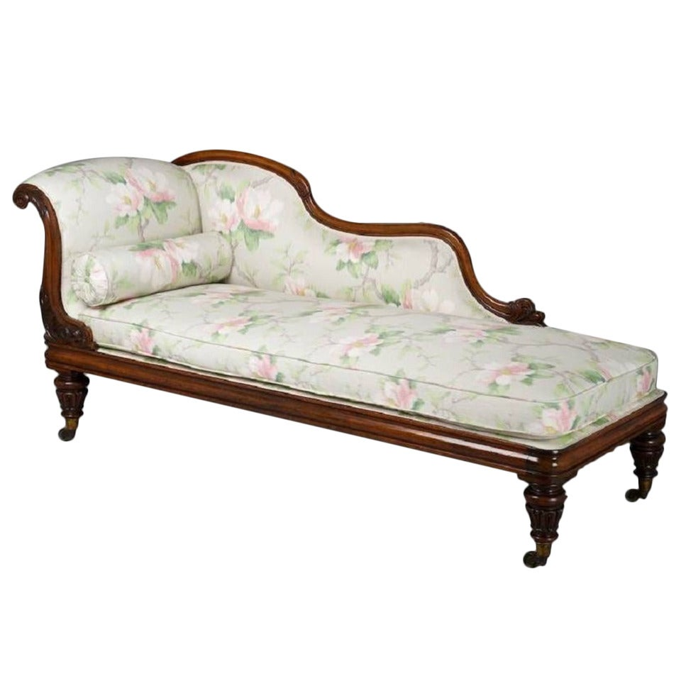 Late regency rosewood chaise longue at 1stdibs for Barcelona chaise longue