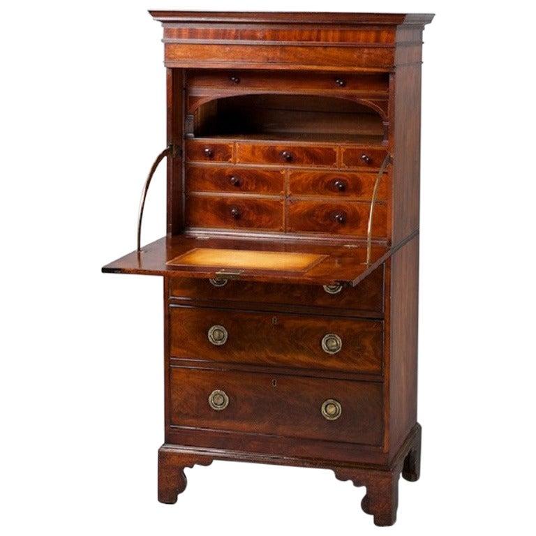 Late 18th century mahogany escritoire at 1stdibs