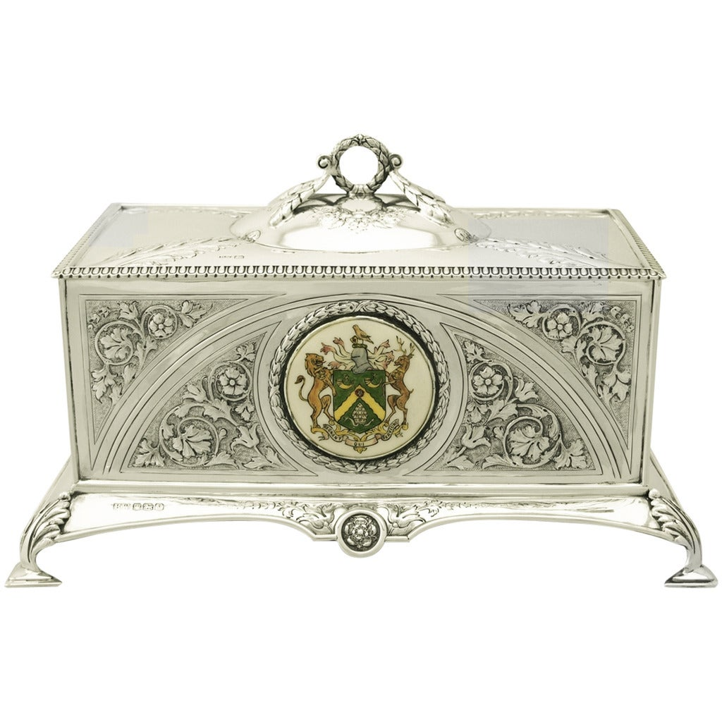 Sterling Silver Jewellery Casket - Antique George VI at 1stdibs