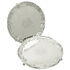 Sterling Silver Salvers, Antique George III