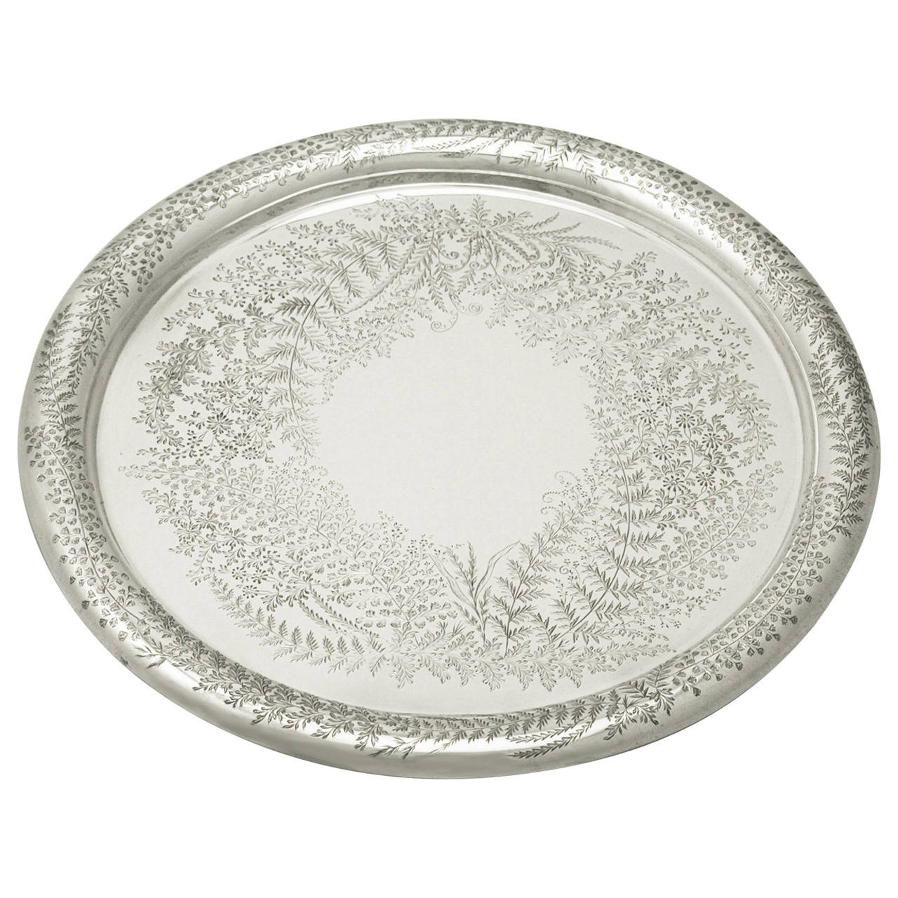Sterling Silver Salver, Antique Victorian
