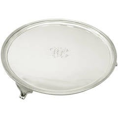 Sterling Silver Salver Made in York, Antique George III