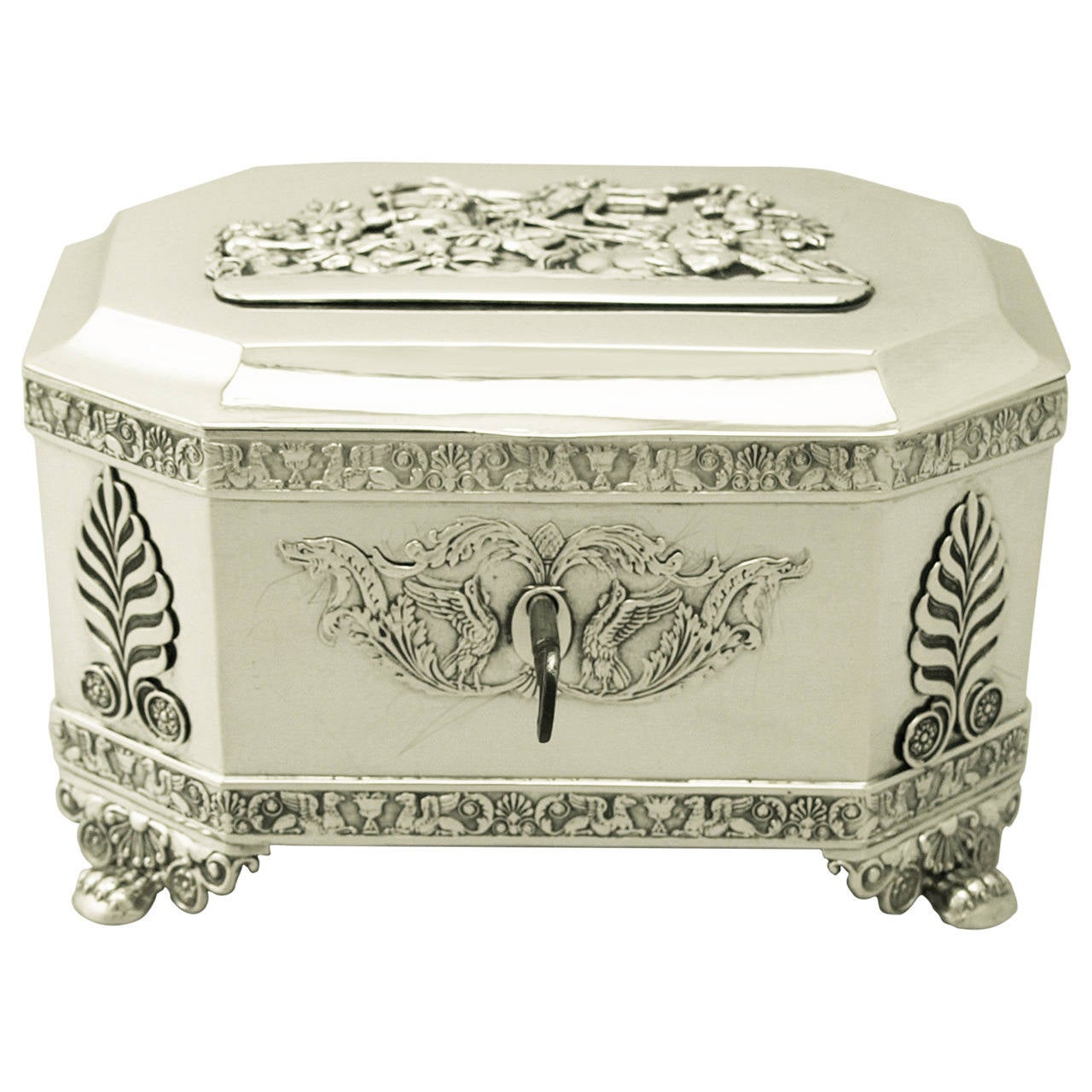 Antique Polish Silver Locking Casket Regency Style Circa 1840 At 1stdibs