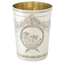Russian Silver Beaker - Antique 1777