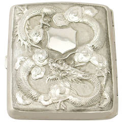 Chinese Export Silver Cigarette/Card Case - Antique Circa 1900