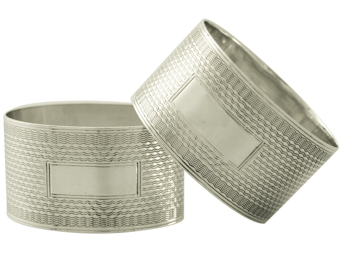sterling silver napkin rings set of four vintage george
