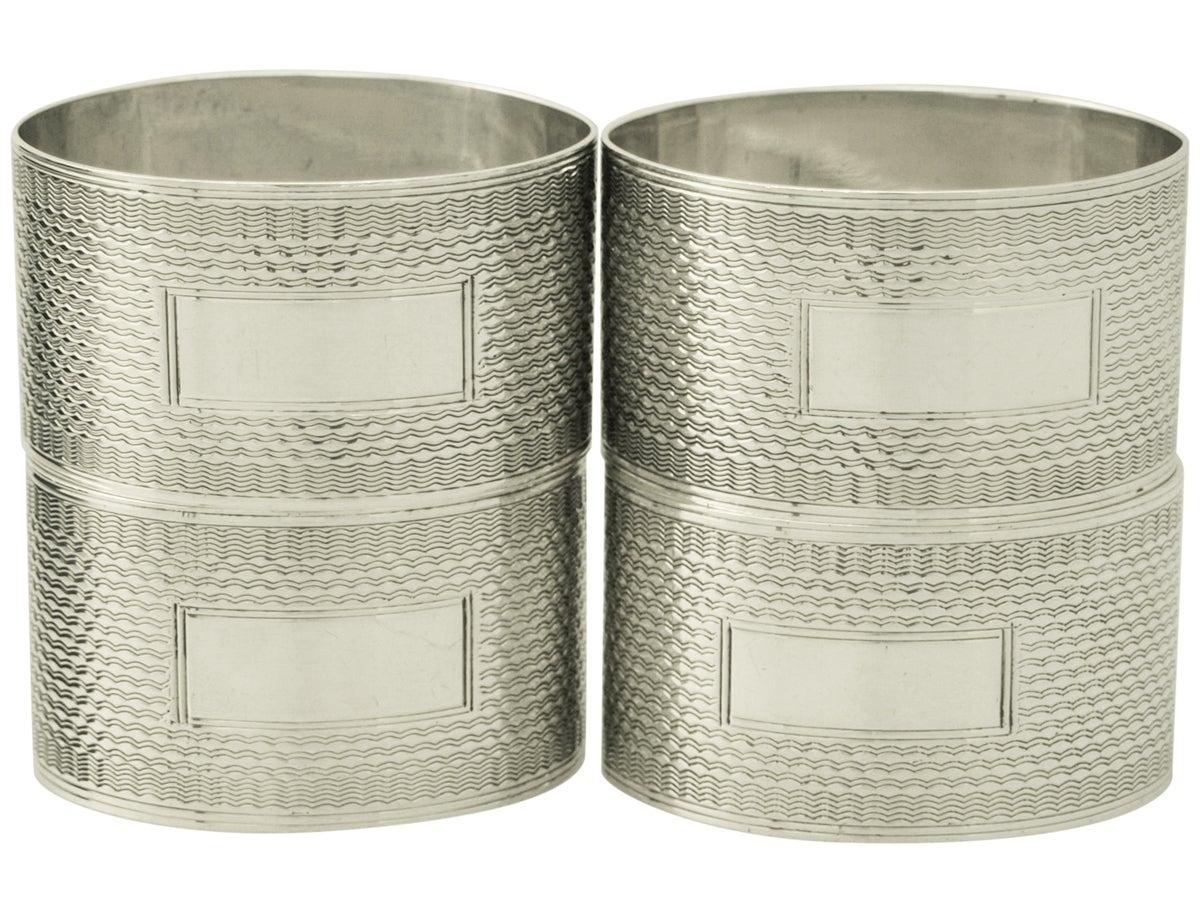 sterling silver napkin rings set of four vintage george