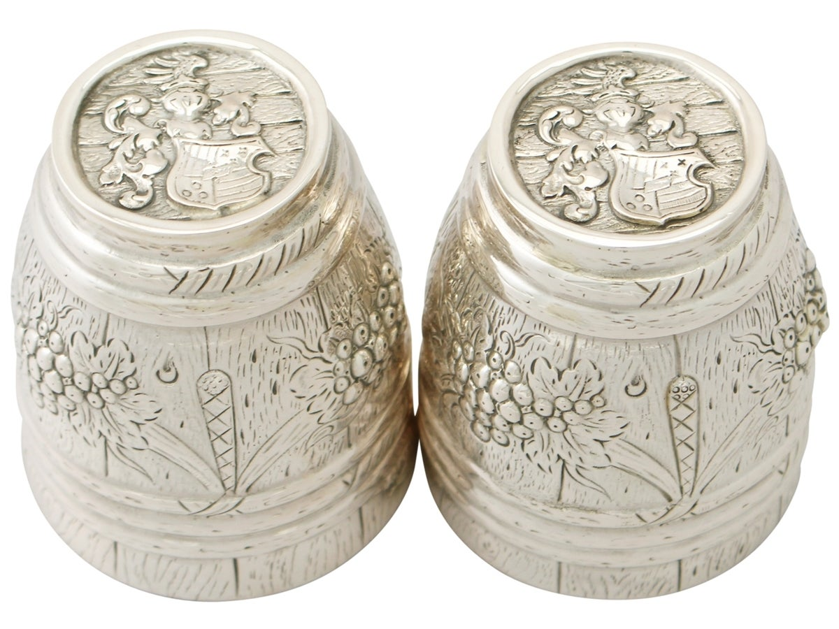 German Silver Beakers, Antique circa 1900 In Excellent Condition For Sale In Jesmond, Newcastle Upon Tyne