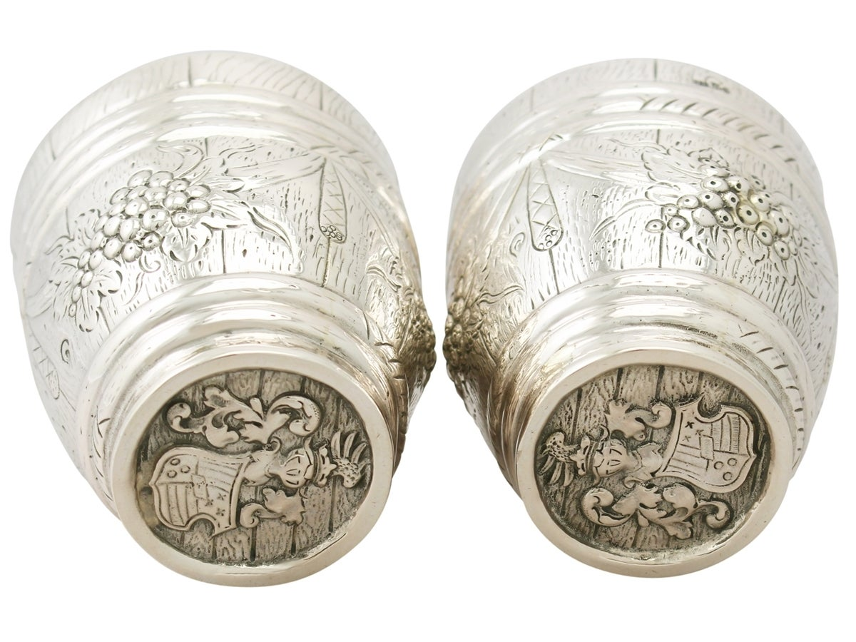 Early 20th Century German Silver Beakers, Antique circa 1900 For Sale