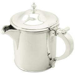 Sterling Silver Gravy Pot or Jug, Antique Victorian
