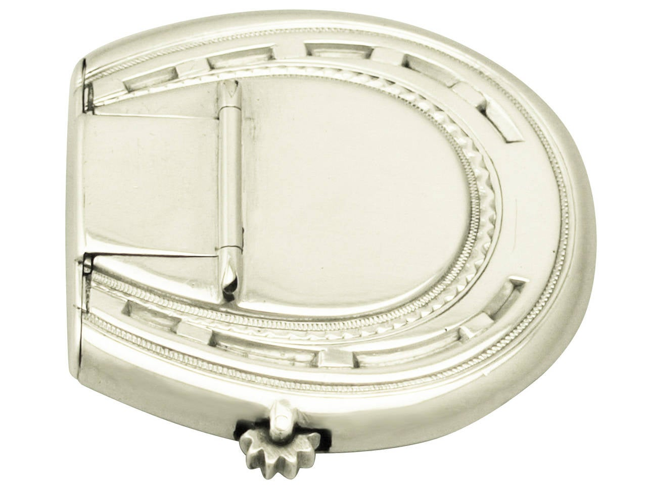 Sterling silver horseshoe vesta case antique victorian for Vintage horseshoes for sale