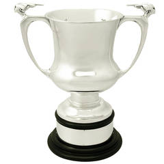 Art Deco English Sterling Silver Presentation Trophy Cup