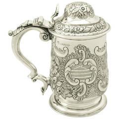 Sterling Silver Quart Tankard, Antique George IV