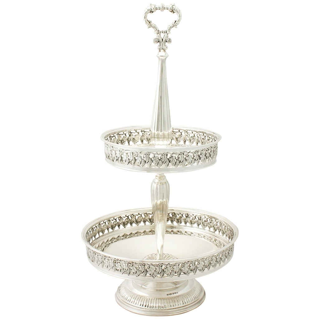 Sterling Silver Cake Stand or Centerpiece, Contemporary ...