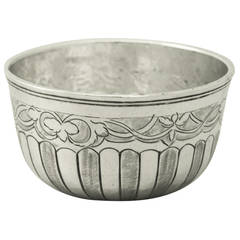 Russian Silver Drinking Bowl - Antique 1790