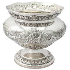 Antique Indian Silver Bowl, circa 1890